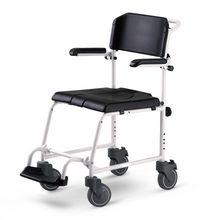 """McWet mobile shower chair and commode 5"""""""